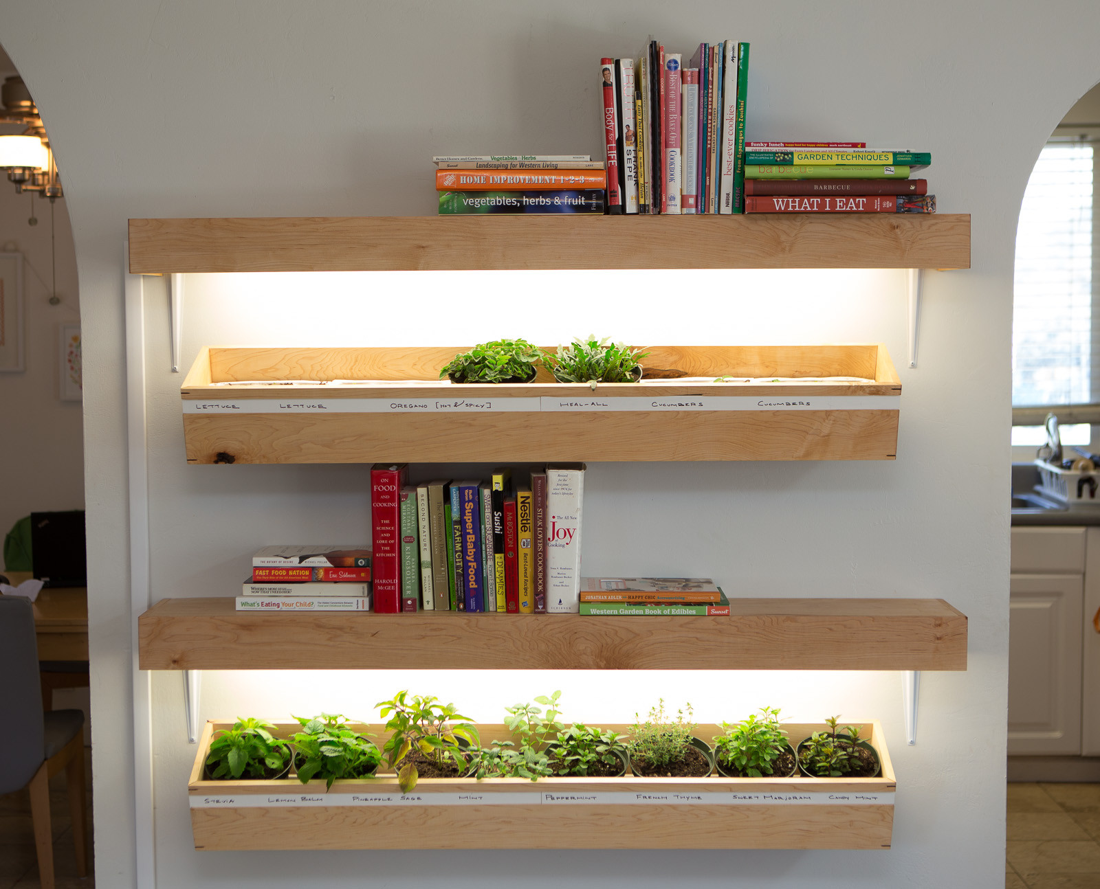 Indoor Floating Planter Box Dvs Wood